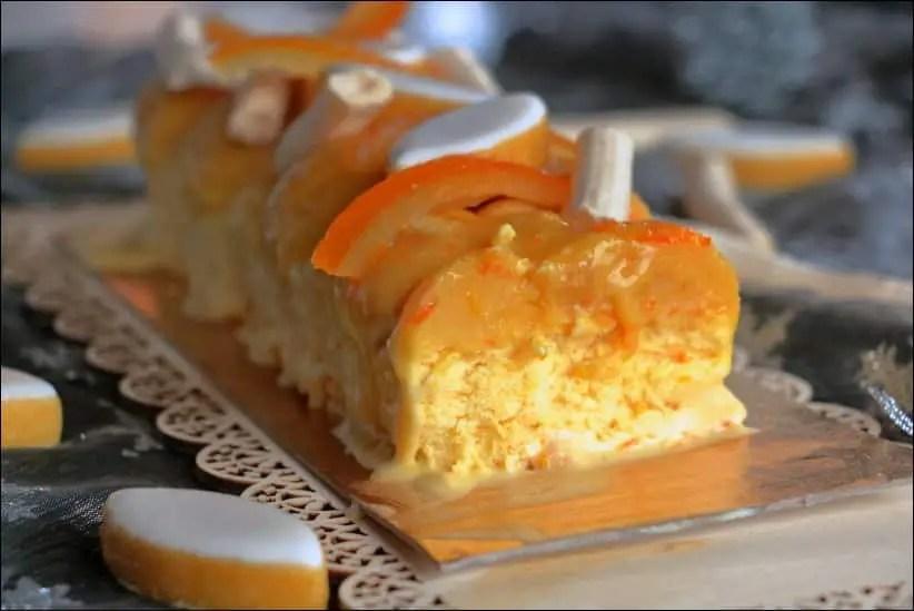 buche glacée orange calissons