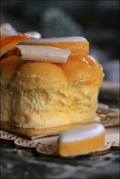 buche glacée safran orange
