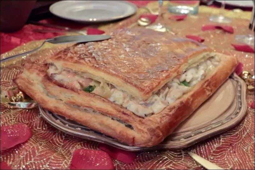 feuilleté de sandre au beurre blanc