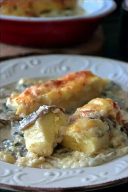 quenelles champignons sauce Mornay