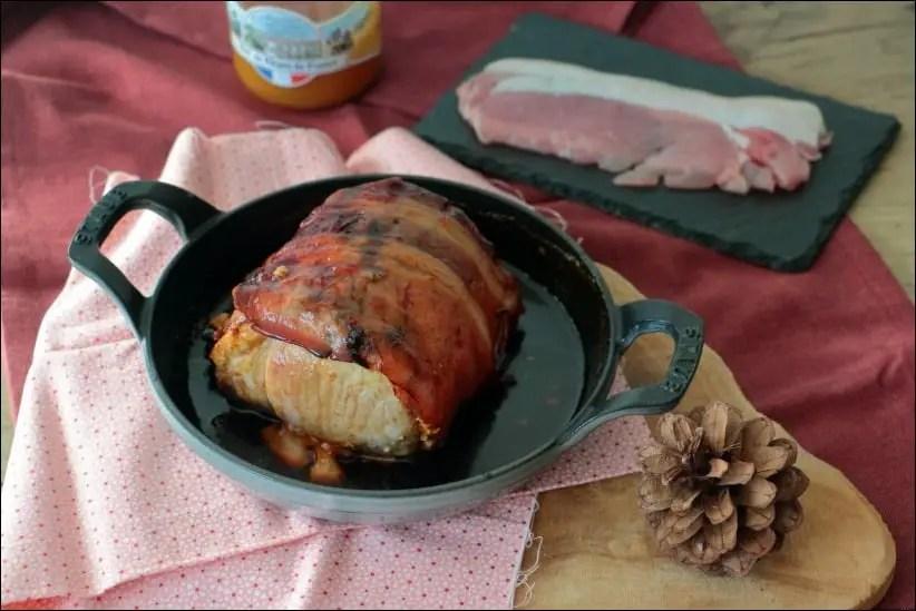 rôti de porc au bacon et miel