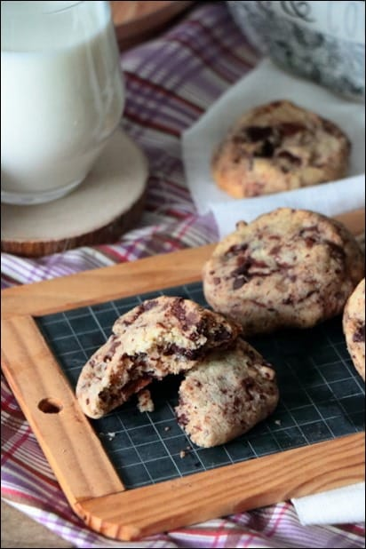 cookies chocolat recette moelleux