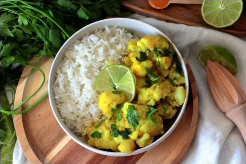 curry chou fleur lait de coco