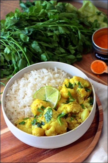 curry chou fleur vegan