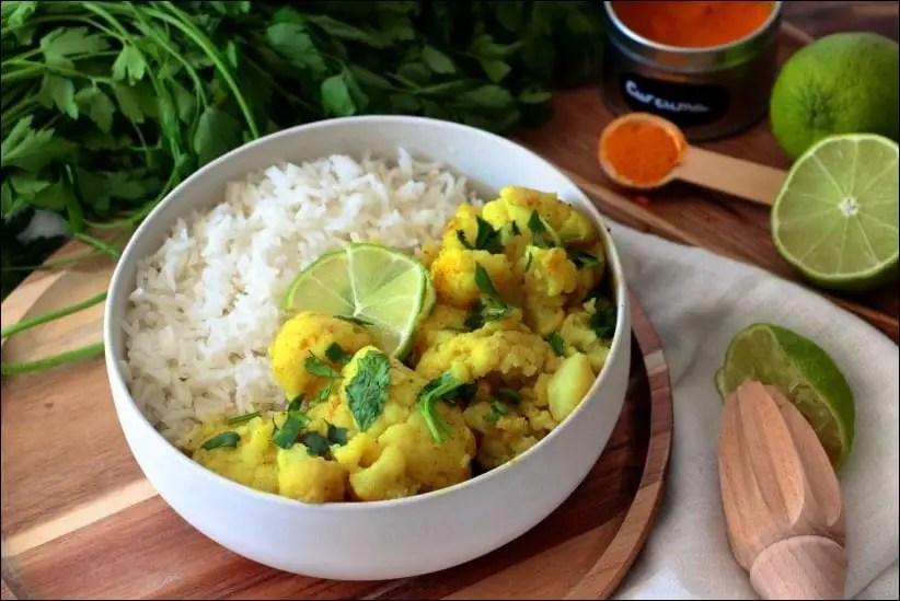 recette chou fleur curry facile