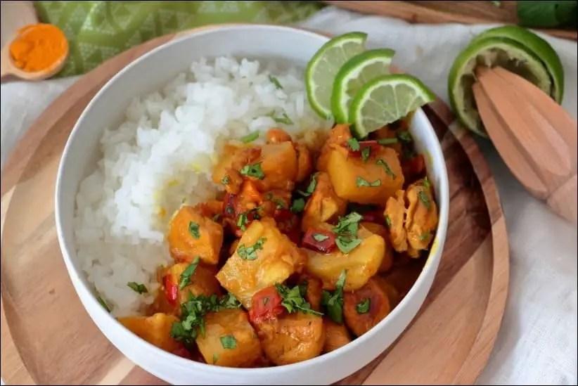 poulet curry coco épices