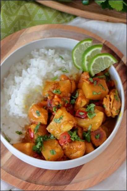 curry poulet ananas coco