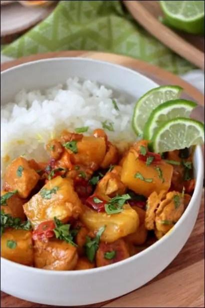 poulet curry a la thai