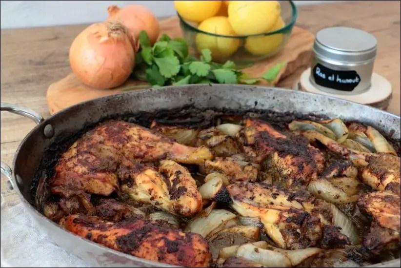 poulet roti citron confit a la marocaine