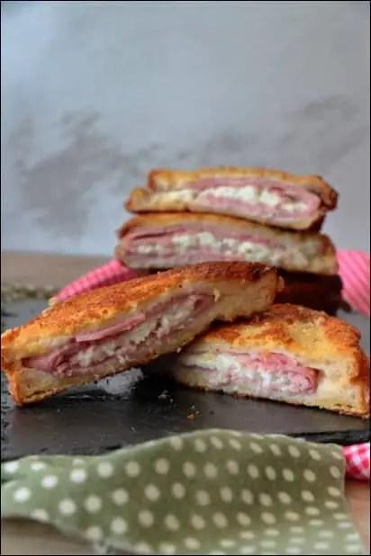 croque-monsieur pané mozzarella jambon