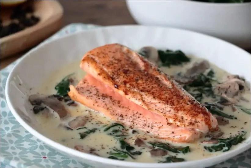saumon et epinard