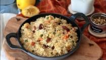 riz aux légumes à l'indienne