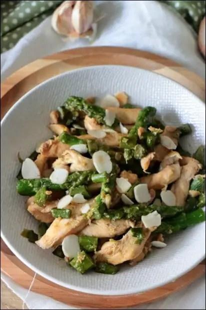 poulet asperge wok