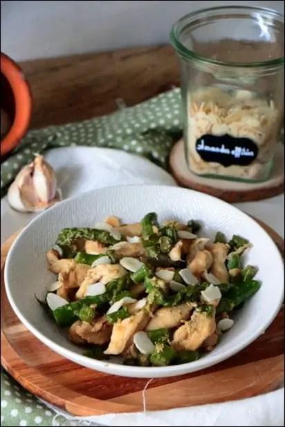 asperges poêlée poulet