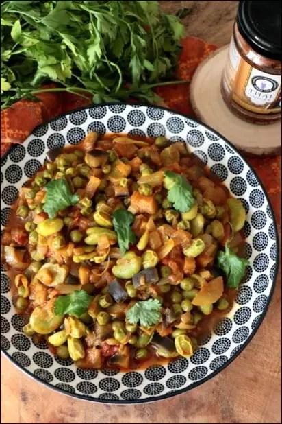petit pois sauce curry