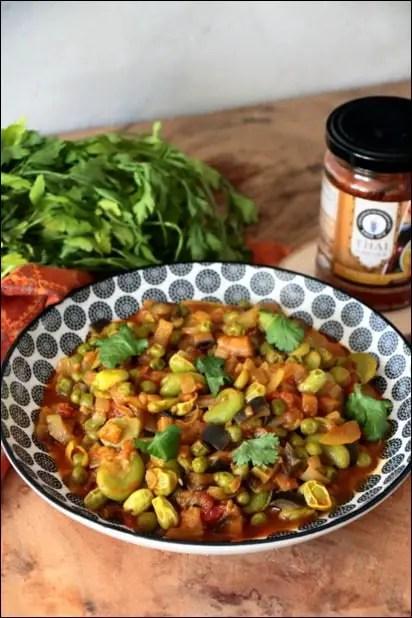 curry jaune petit pois