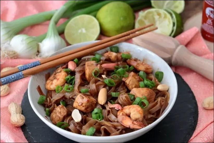 pad thai poulet crevette lignac