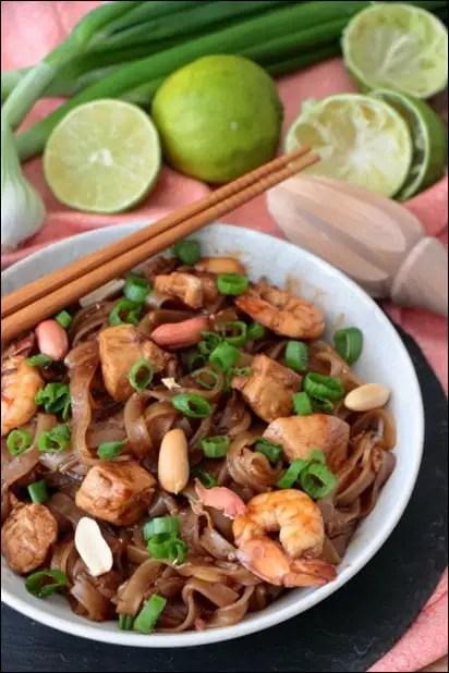 pad thai au poulet et crevettes