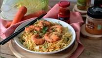 wok de crevettes sautées
