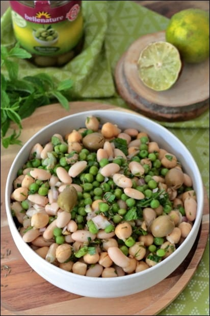 salade haricots blancs en boite