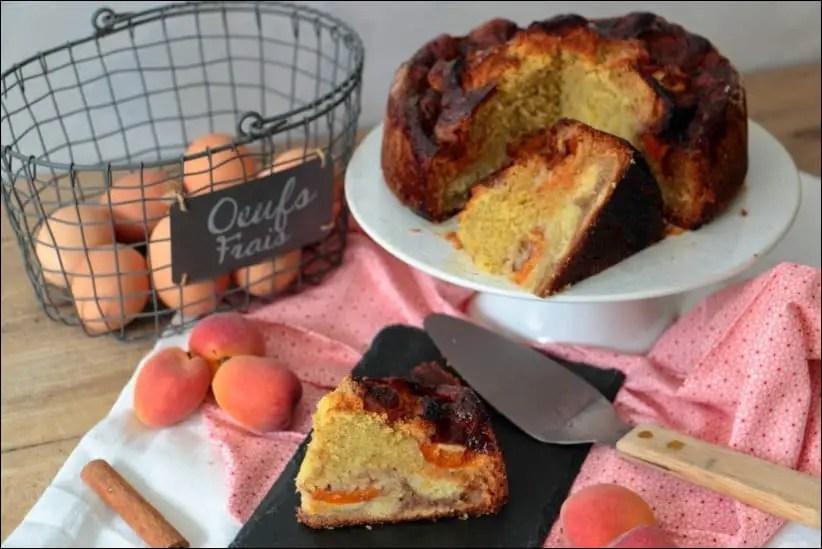 gateau abricots poudre amande cannelle