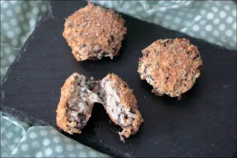 champignons farcis au four
