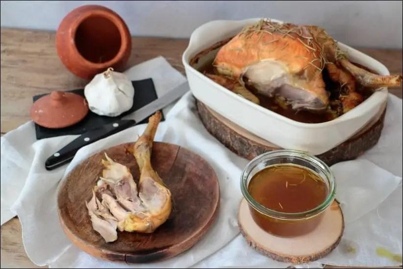 poulet basse température romarin
