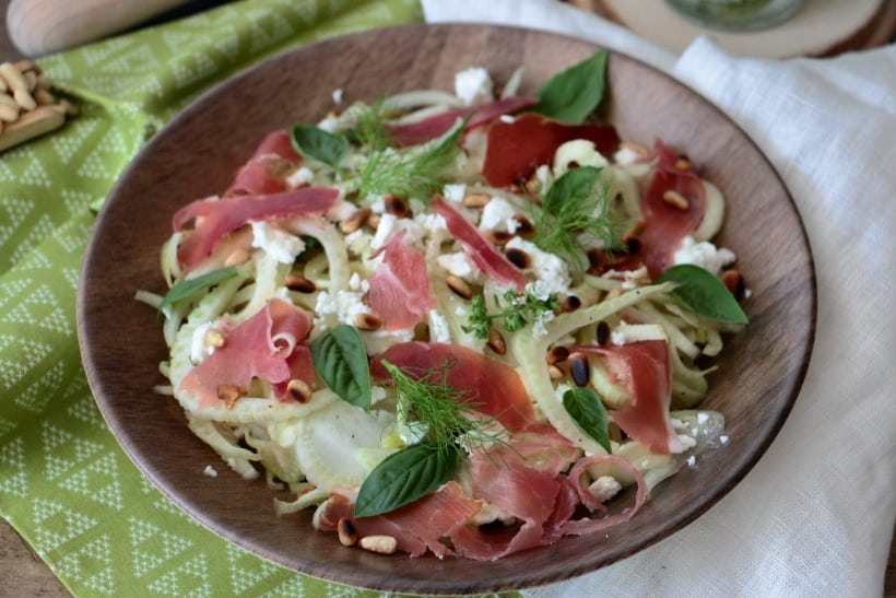 salade d'été avec fenouil