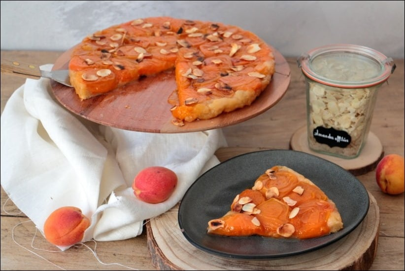 recette tatin abricots amandes