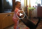 Little Kid Grabs a Newborn Kitten, Watch The Cat Mom`s Reaction