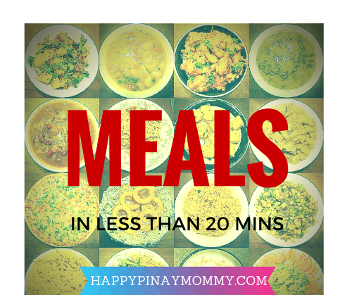 10 Meals in Less Than 20 Minutes