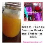 Budget Friendly Summer Drinks