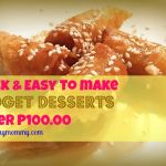 quick, easy, and cheap Filipino dessert recipes under P100.00
