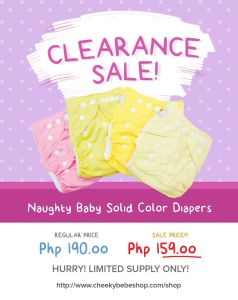 Ongoing CLoth Diaper Sales and Promos in the Philippines Part 2.