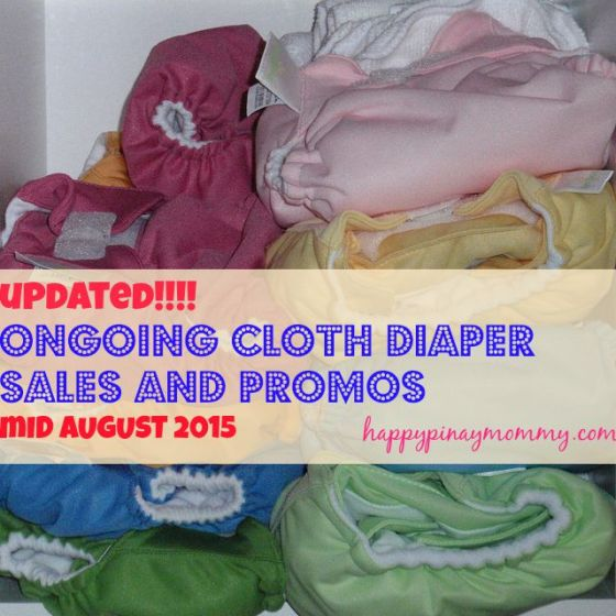 Ongoing Online Cloth Diaper Sales and Promos in the Philippines (Mid-August 2015)