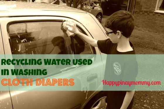 recycling water used in washing cloth diapers