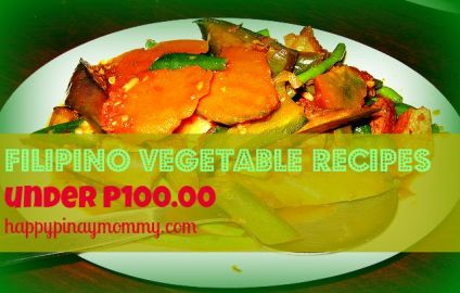 Filipino vegetable recipes under P100.00