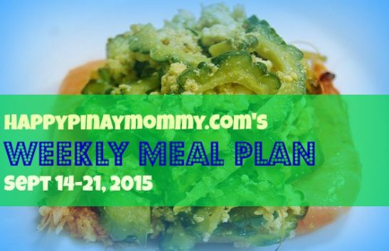 Happypinaymommy.com's Weekly Meal Plan