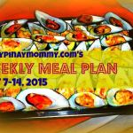 Happypinaymommy.com's weekly meal plan sept 7-14, 2015.