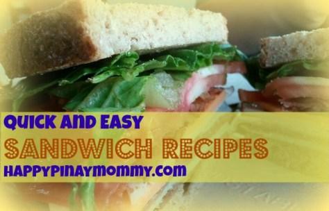 Yummy and Easy Sandwich Recipes