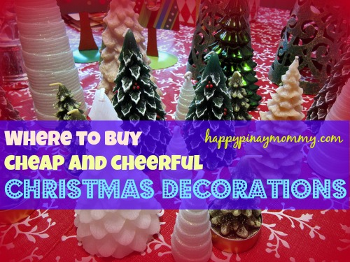 here is a list of some of the places where you can buy cheap christmas decorations in the philippines