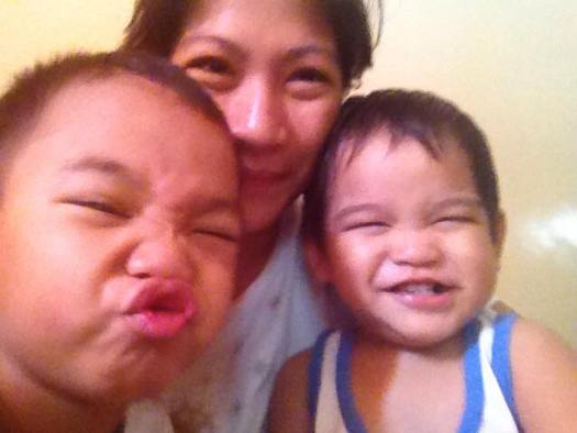 A Balanced Life: Mommy Grace taking wacky selfies with her boys