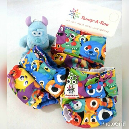Rump-a-Roo Hybrid Fitted Cloth Diapers.