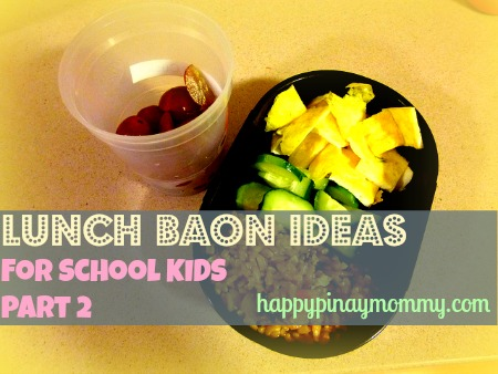 Here is the Second Part of our series on Lunch Baon Ideas for School Kids. (Photo Credits)