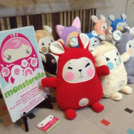 Nice and Fluffy Giveaways! (Photo taken from Monsterella Plush Art's FB Page)