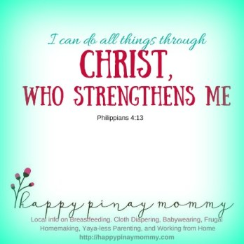 Let Christ be your source of emotional and physical strength.