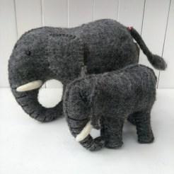 felt elephants