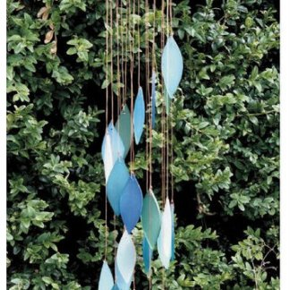 leaves aqua wind chimes