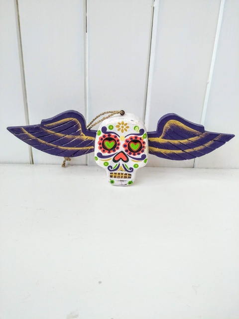 mexican skull wings