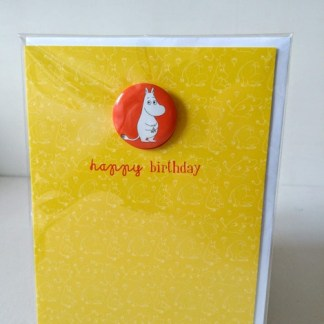 moomin birthday badge